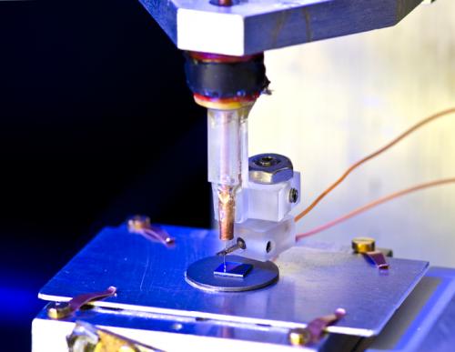 Near-field scanning microwave microscope: Big at the nanoscale