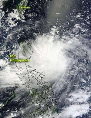 NASA sees Tropical Storm Kai-tak brushing the Philippines