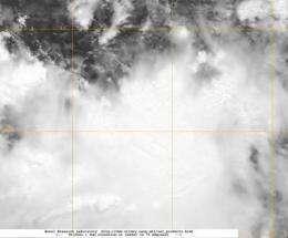 NASA satellite spots newborn Tropical Depression Doksuri in W. Pacific