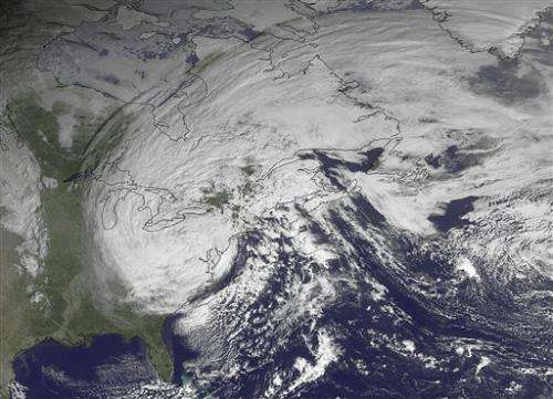 Scientists look at climate change, the superstorm