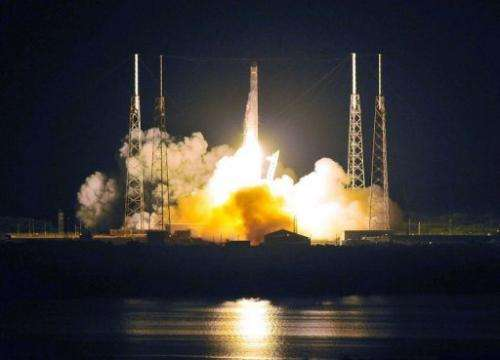 SpaceX's Falcon 9 rocket early May 22 as it heads for space