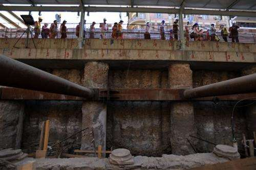 Subway work unearths ancient road in Greece