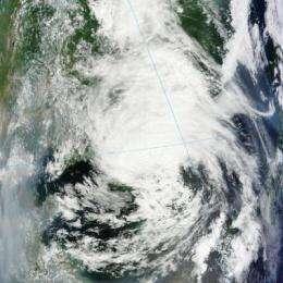 Tropical Depression Khanun blankets South Korea