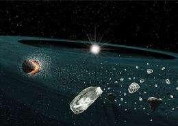 Astronomers  discover a rare stellar disk of quartz dust