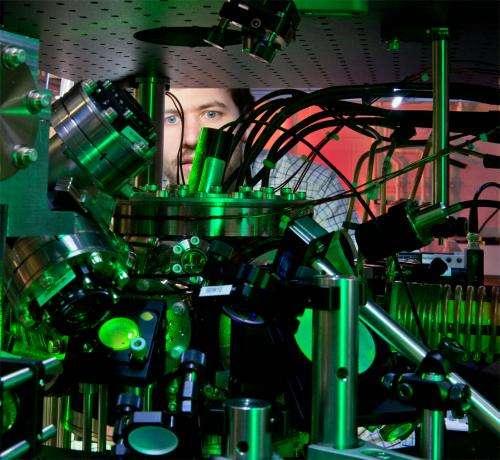 Disappearing light: Precision measurement of an atomic transition