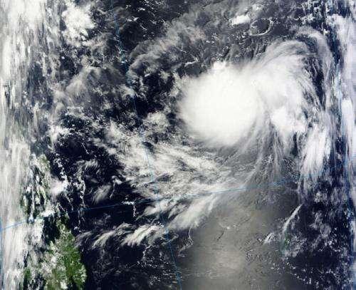 NASA satellite sees Tropical Storm Jelawat form in northwestern Pacific
