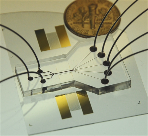 Acoustic cell-sorting chip may lead to cell phone-sized medical labs