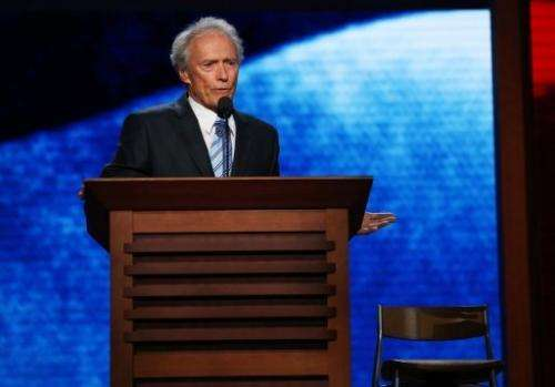 Actor Clint Eastwood speaks during the final day of the Republican National Convention