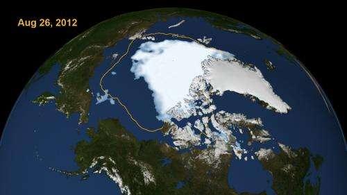 Arctic sea ice shrinks to new low in satellite era