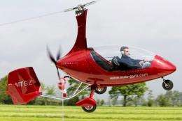 A test pilot lands the Personal Air and Land Vehicle PAL-V following a test flight in 2009