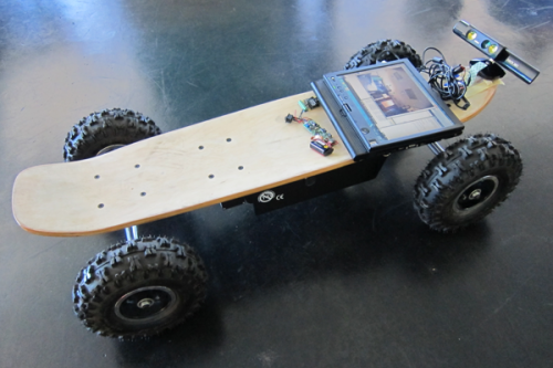 Austin lab team rolls out Kinect-controlled skateboard