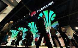 """Chinese telecoms giant Huawei on Sunday launched what it touted as the """"world's fastest smartphone"""""""