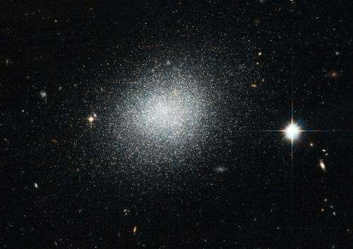 Compact blue dwarf can't hide from Hubble