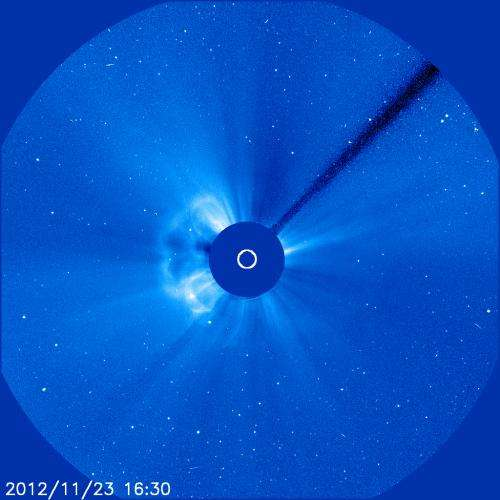 Continuing Thanksgiving eruptions on the Sun