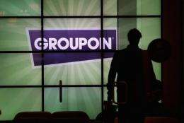 Daily deals site Groupon said its loss in the quarter shrank to about $43 mn
