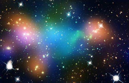 Dark matter core defies explanation in NASA Hubble image