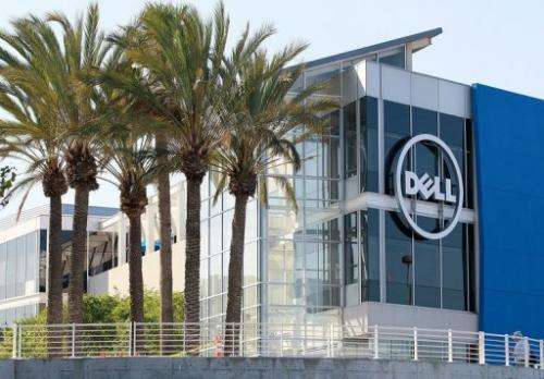 Dell said its third-quarter profit slid 47 percent from a year ago