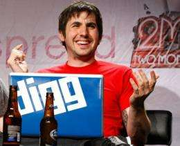 Digg founder Kevin Rose is pictured in 2009