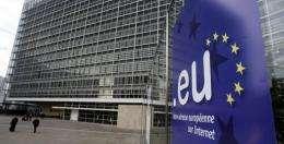 EU headquarters are picturedin Brussels in 2005