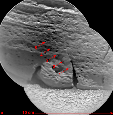 Fostering Curiosity: Mars Express relays rocky images