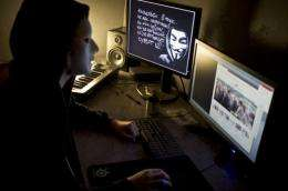 """Hacking group Anonymous is believed to be a loosely affiliated network of """"hacktivists"""""""