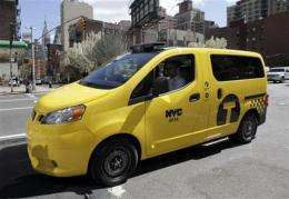 Hail to the new NYC taxi; Nissan cab unveiled (AP)