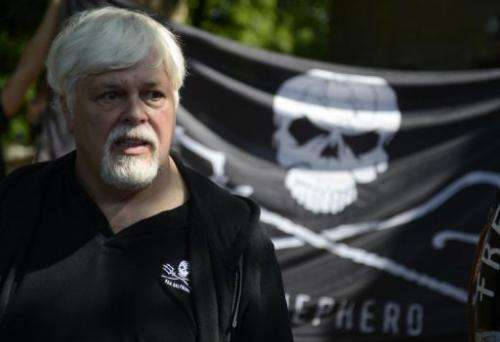 Militant conservationist and Sea Shepherd founder Paul Watson, who is wanted by Interpol