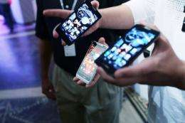 Motorola smartphones are shown on September 5