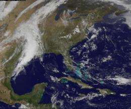 NASA sees more severe weather over eastern Texas, Oklahoma