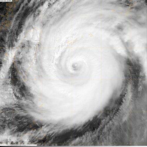 NASA sees super Typhoon Jelawat Affecting Japan