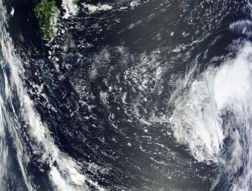 NASA sees triple tropical trouble in northwestern Pacific