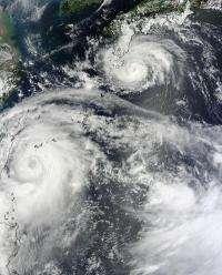 NASA sees twin typhoons headed for double China landfall