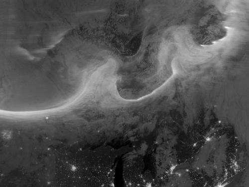 Night-time view of Aurora