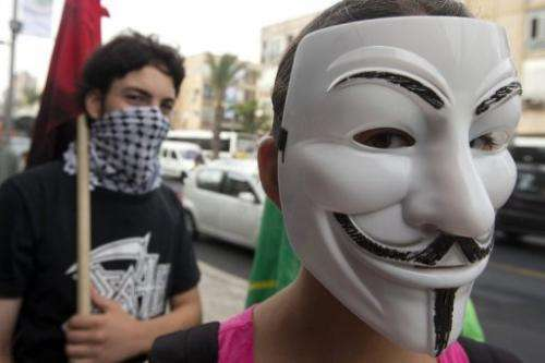 Online activist group Anonymous said it had downed the websites of dozens of Israeli state agencies
