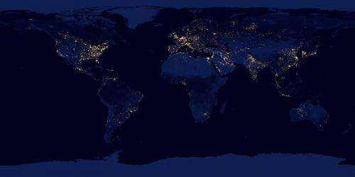 Satellite reveals new views of earth at night