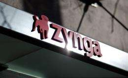 Shares of the social media games maker Zynga plunged