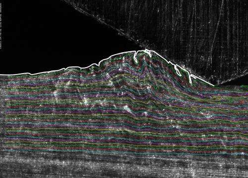 Sliding metals show fluidlike behavior, new clues to wear
