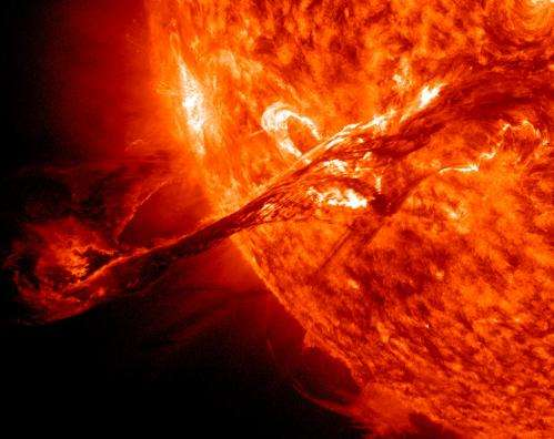 STEREO spots a CME soaring into space