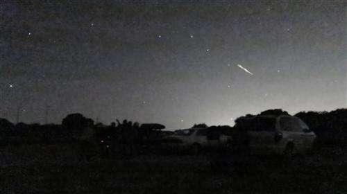 Stunning meteor showers light up California sky
