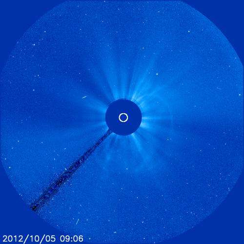 Sun spits out a coronal mass ejection