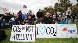 Tax on corporate pollution led to demonstrations across Australia