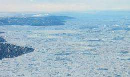 The Artic Ocean is pictured off the coast of Greenland in 2008