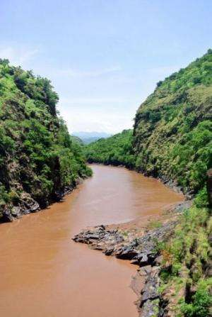 The mud-coloured Omo River provides vital water to one of Ethiopia's most remote regions
