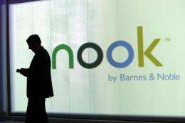 The Nook Tablet has eight gigabytes of memory