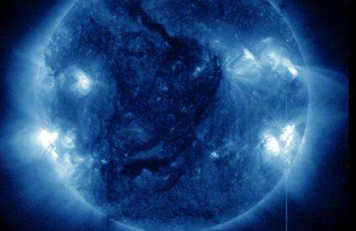 The sun blasts out an X1-Class solar flare