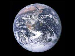 This NASA image obtained in 2009 shows a view of Earth from Apollo 17