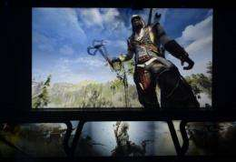 Ubisoft presents Assassin's Creed 3 during the Ubisoft's media briefing at the E3 2012  in Los Angeles, California