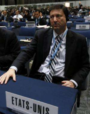 US ambassador Terry Kramer, head of the US delegation, attends the WICT-12 in Dubai on December 14, 2012