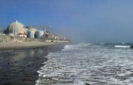 View of the San Onofre Nuclear Power Plant in north San Diego County in 2011