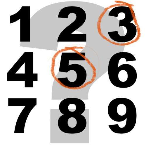 What number is halfway between 1 and 9? Is it 5 — or 3?